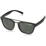 Arnette AN4247 Huaka anteojos de sol cuadradas, 54 mm, color negro mate y gris