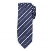 Cravată bărbătească îngustă albastru închis 9817