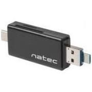 Card reader natec Natec Czytnik Kart Earwig SD/MICRO SD USB 2.0 USB-C negru