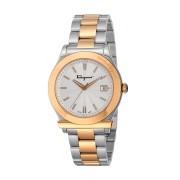 【63%OFF】Men's ステンレススティール フェラガモ1898 腕時計 フェイス:シルバー ベルト:シルバーxゴールド ファッション > 腕時計~~メンズ 腕時計