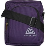 JUNKET TRIBE Passport Travel Bag Small Purple Sling Bag