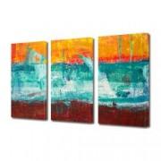 Tablou Canvas Premium Abstract Multicolor In Trei Culori Decoratiuni Moderne pentru Casa 3 x 70 x 100 cm