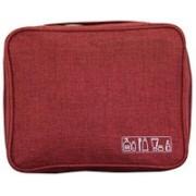 NIRVA Multi Purpose Travel Bag Makeup Bag Cosmetic Organizer Travel Toiletry Kit(Red)