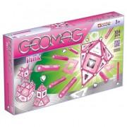Set de constructie magnetic Geomag, Pink, 104 piese