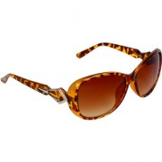 Zyaden Brown UV Protection Oval Women Sunglasses