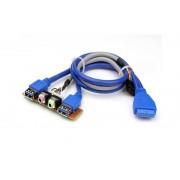 Nanum SE-UA2 USB 3.0 und HD-Audio Ports Frontanschluss Platine intern
