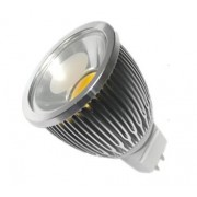 LAMPARA LED ALUMINIO COB 5W MR-16 12V BLANCO CALIDO