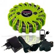 SET - výstražné LED světlo Power Flash 301Z + nabíjecí sada