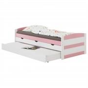 IDIMEX Kojenbett JESSY 90 x 200 cm, weiß/rosa