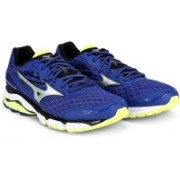 Mizuno Wave Inspire 12 Running Shoes For Men(Blue, Silver, Yellow)