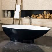 Vasca da bagno freestanding Napoli 191x50 cm bicolore
