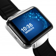 DM98 Watch Phone - 1 IMEI, Bluit-In Mic, haut-parleurs, Bluetooth 4.0, système d exploitation Android, WiFi, prise en charge 3G, cam 1.3MP, Google Play (Silver)
