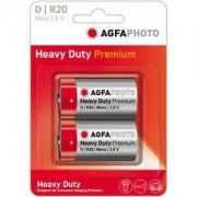Agfa heavy duty premium set 2 baterii 1.5 v r20 d
