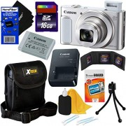 Canon PowerShot SX620 HS 20.2 MP Wi-Fi Digital Camera with 25x Optical Zoom & HD 1080p Video (Silver) International Version + 9pc 16GB Accessory Kit w/HeroFiber Gentle Cleaning Cloth