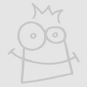 Baker Ross Christmas Glitter Decorations - 6 assorted festive decoration kits for kids. Size 9.5cm-11cm. Includes design sheets, glitter & ribbons.