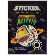 Urban Media Bomb Space and Aliens 12pcs Sticker