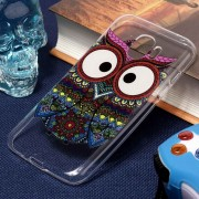 Para Samsung Galaxy J2 PRO (2018) Tribal Eagle Owl Pattern Oil Relieve Suave TPU Protector Nuevo Caso