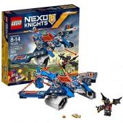 Lego Year 2016 Nexo Knights Series Set #70320 - AARON FOX'S AERO-STRIKER V2 with Aaron Fox, Aaron Bot and Ash Attacker Minifigures (Pieces: 301)