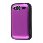 HTC Wildfire S Brushed Aluminium Case - HTC Hard Case (Hot Pink)