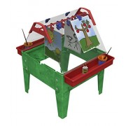 Childbrite Toddler Basic Activity Easel with Two Caddies and 8 Clips Green Frame