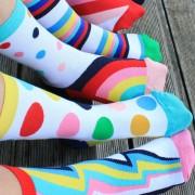 Set 6 sosete colorate Follow Your Rainbow