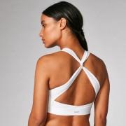 Myprotein Reggiseno sportivo Power incrociato sulla schiena - Bianco - L