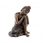 Kleine Dierenurn Slapende Indische Buddha Brons Rechts (0.35 liter)