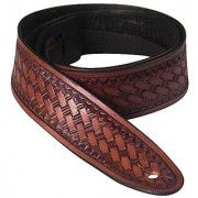 Golden Gate SG-5312 Shelton Leather Guitar Strap - Mahogany Brown