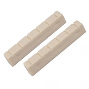 ELECTROPRIME 2 Pcs Bone Classical Guitar Slotted Nut 48mm 6 String Classic Guitar Parts