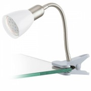 Lampa pentru citit LED clips Eglo Dakar 3 92932, 1x3W LED, Argintiu