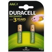 Acumulatori Duracell AAAK2, 750mAh, 2 bucati