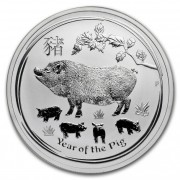 The Perth Mint Lunární série II. stříbrná mince 1 AUD Year of the Pig Rok vepře 1 Oz 2019