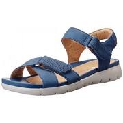 Clarks Women's Un Saffron Blue Leather Flip-Flops Other - House Slippers - 3.5 UK/India (36 EU)