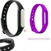 Xiaomi Mi banda 1S brazalete inteligente + pulsera de reemplazo -Black + Purple