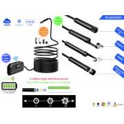 NTR ECAM28WIFI Vízálló endoszkóp kamera 1080P FHD 2MP 8mm átmérő 6LED 30m WiFi + 3,5m kábel