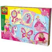 Детски комплект Направи си сам - Мозайка с брокат SES, 080951