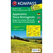 Wandelkaart - Fietskaart 2453 Appennino - Tosco Romagnolo | Kompass
