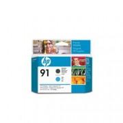 ORIGINAL HP Testina per stampa ciano/nero (opaco) C9460A 91