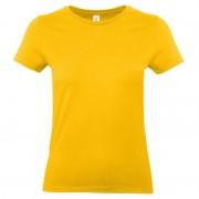 B&C Goud gele shirt met ronde hals voor dames