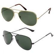 Magjons Aviator Sunglasses Combo Set of 2 With box MJ7788