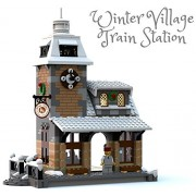 Constructibles Winter Village Train Station - LEGO Parts & Instructions Kit