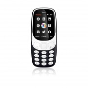 Samgle 3G 3310 Teléfono Móvil 3D De 2,4 Pulgadas Pantalla Curvada De RAM 64 MB + 128 MB De ROM Negro
