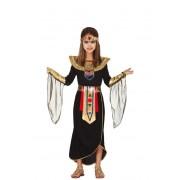 Guirca Disfraz de faraona egipcia con túnica para niña - Talla 5 a 6 años