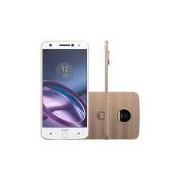 Smartphone Motorola Moto Z Power Edition, Branco e Dourado, XT1650-03, Tela de 5.5, 64GB, 13MP