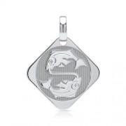Unique 925 Silberanhänger Sternzeichen Fische