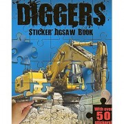 Diggers - Sticker Jigsaw Book - With Over 50 Stickers