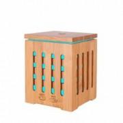 Umidificator cu ultrasunete si aromaterapie KS-030 7 culori de lumina 200ml din lemn de bambus+ CADOU Ulei aromaterapie