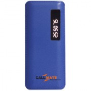 Callmate T21 13000 mAh Power Bank Dual USB with Display LED Light - Blue