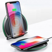 10W Baseus 3-Coil Foldable Qi Fast Wireless Charging Pad Desk Stand