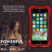 EH AMOR MEI PODEROSA Cintura Pequeña Para El IPhone 7 Plus Funda Protectora De Arco Redondo - Rojo